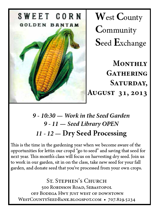 West Co. Seed Exchange Aug